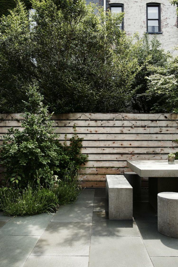 Am Nagement Jardin Et Terrasse En Ville D Une Maison Brooklyn