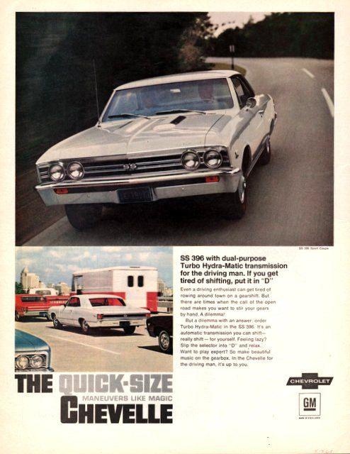 1967 Chevrolet Chevelle car print ad vintage decor by Vividiom, $9.00