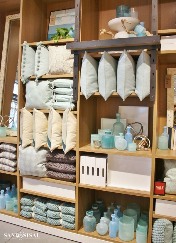 West Elm - Sea Glass Vases & Pillows