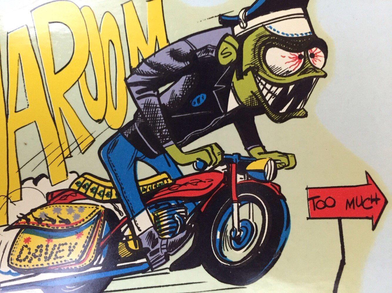 Big bike sticker design - Vintage Weird Ohs Davey Water Decal Rat Fink Kustom Kulture Ed Roth