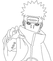 Akatsuki Coloring Pages Google Search Naruto Sketch Drawing