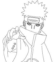 Akatsuki Coloring Pages Naruto Sketch Manga Coloring Book Naruto Drawings