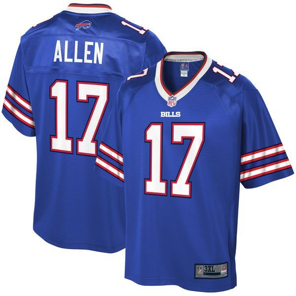 outlet store 8bf14 2756b Nike and Pro Line Josh Allen Jerseys of the Buffalo Bills ...