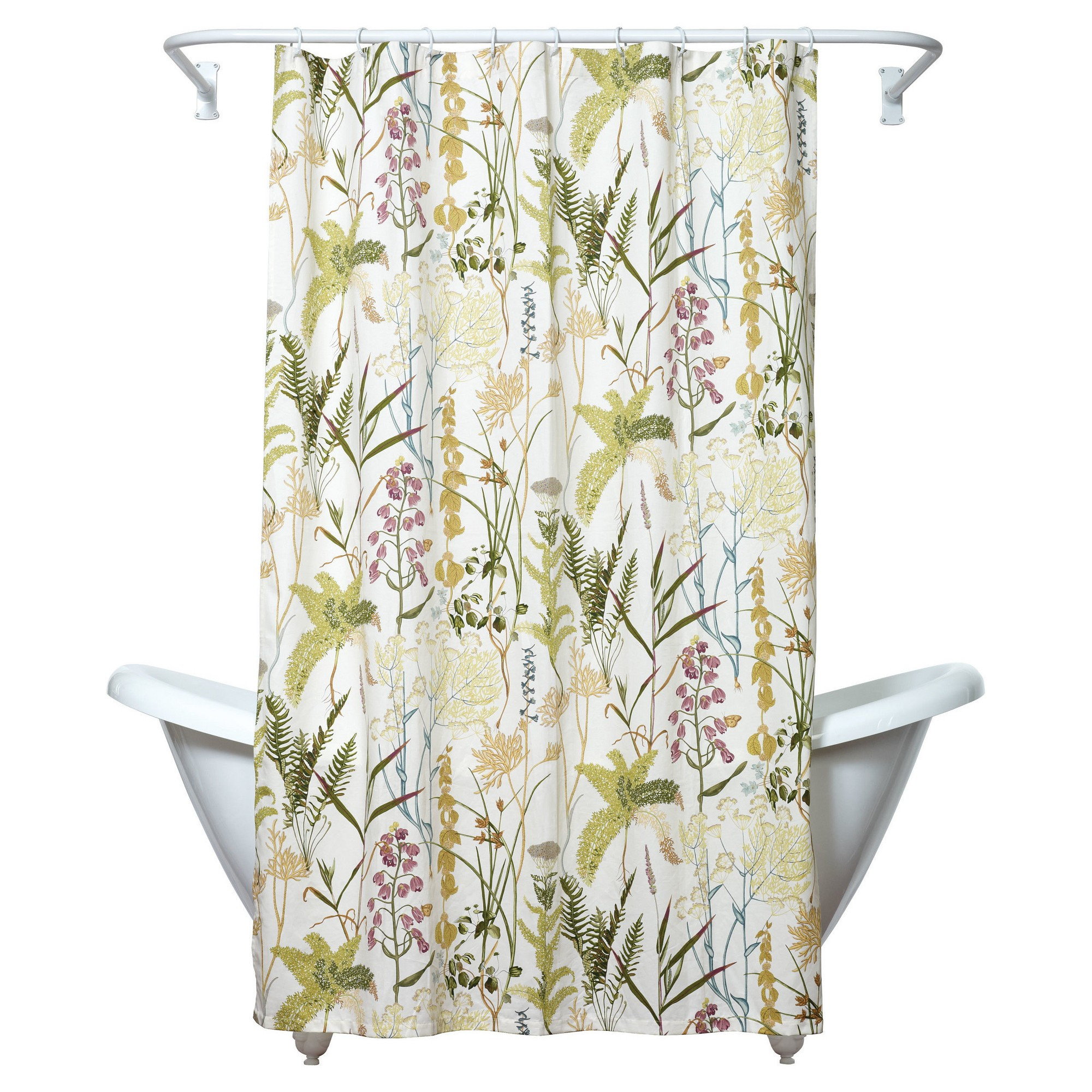 Huntington Botanical Shower Curtain Green/Yellow