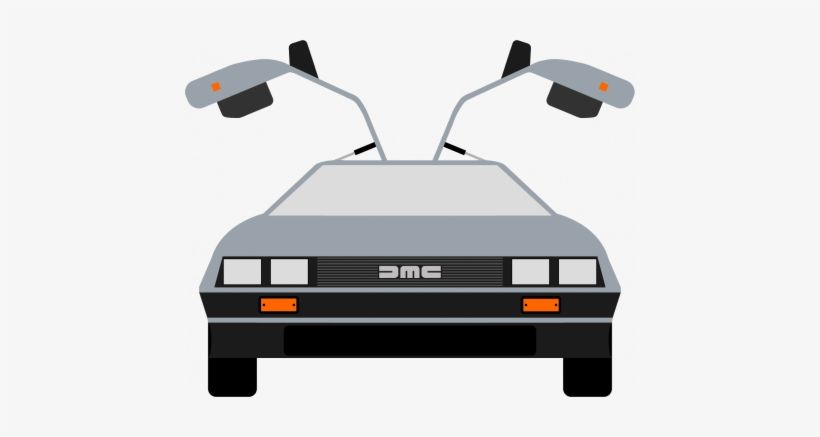Download Back To The Future Car Clipart Delorean Time Machine Cartoon For Free Nicepng Provides Large Rela Delorean Time Machine Delorean Back To The Future