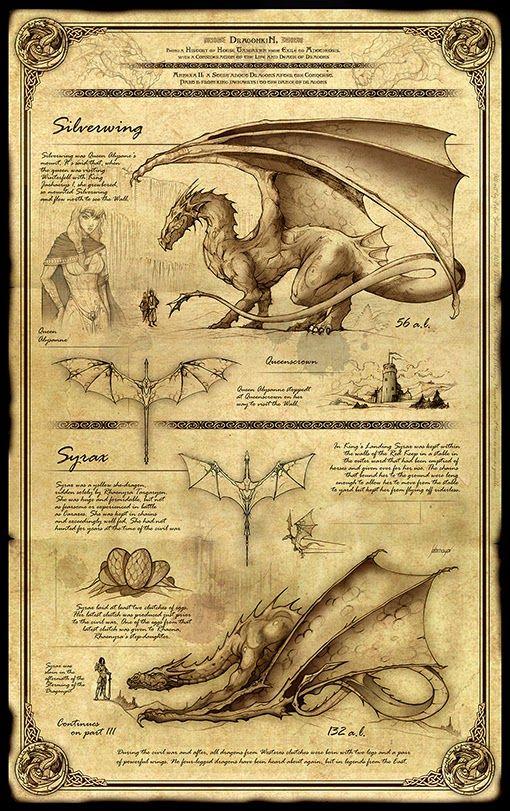 Félix Sotomayor Dragonkin Ii Silverwing Y Syrax Arte De Criaturas Míticas Bestiario Mitologico Criaturas Fantásticas
