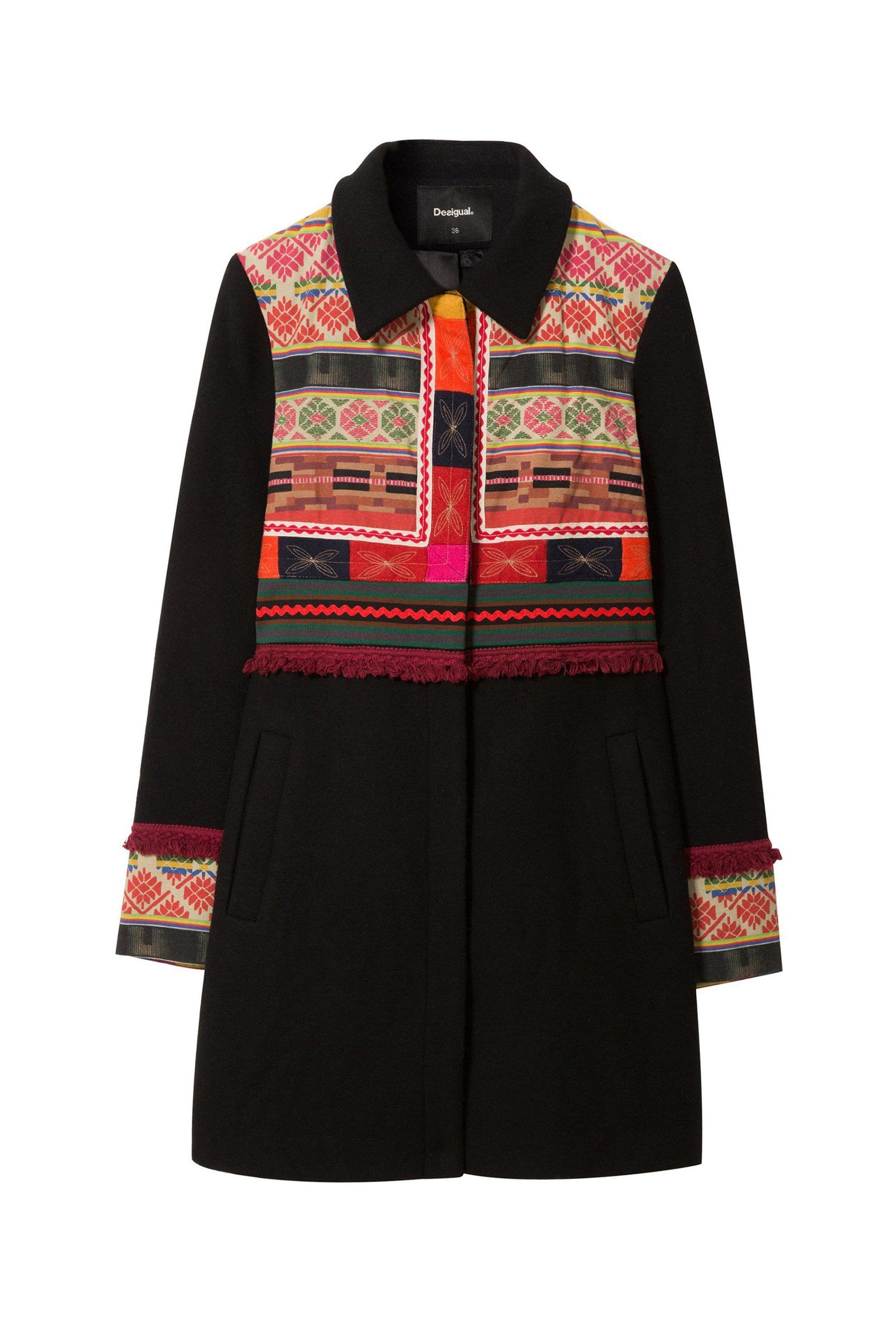 Desigual γυναικείο παλτό Mikele – 18WWEWAR – Μαύρο  55207b4d576