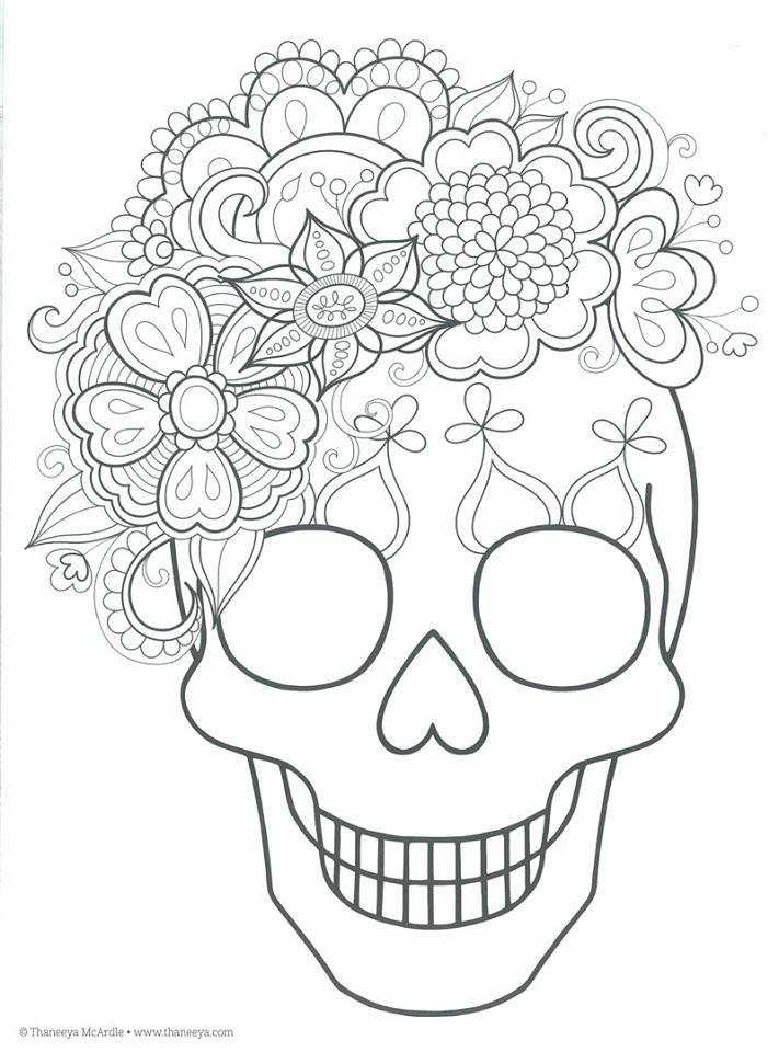 Dibujos para colorear el día de los muertos (5 | Bordado, Bordados ...