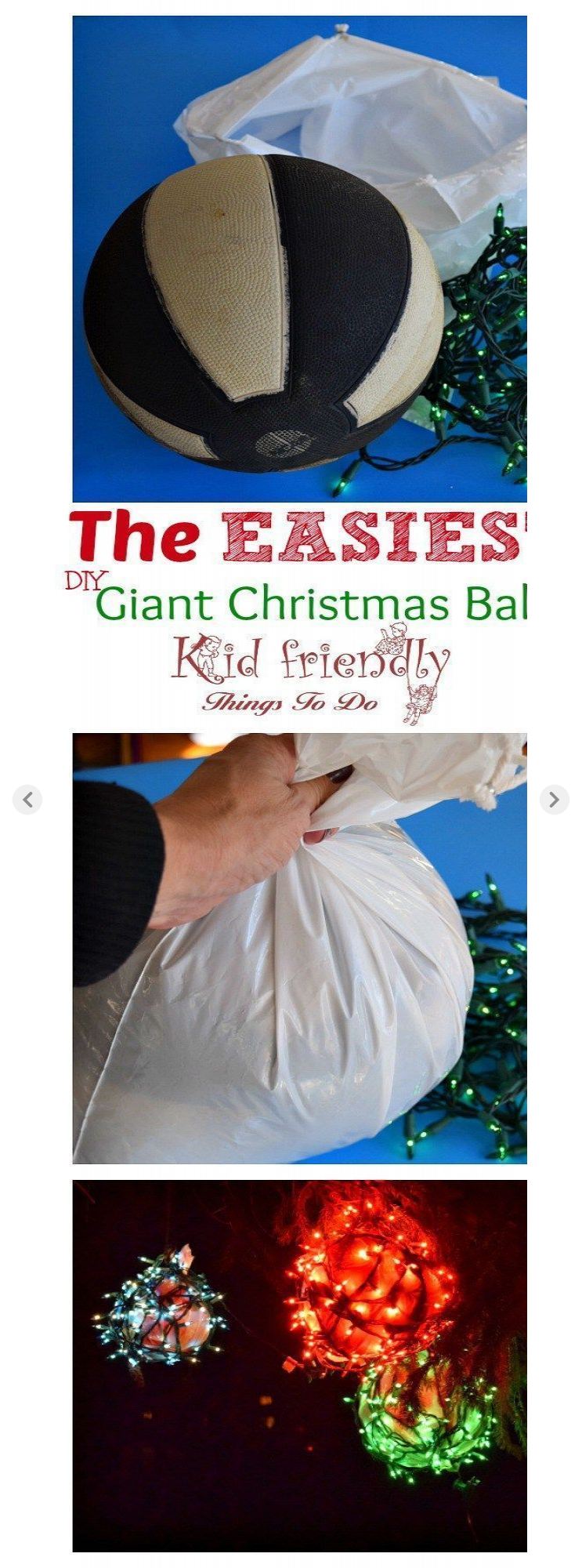 Diy outdoor christmas decorations  Easy DIY Outdoor Christmas Ornaments for your yard Great holiday