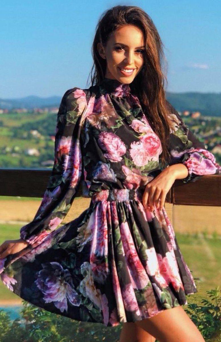 Lola Sukienka W Kwiaty Dresses With Sleeves Long Sleeve Dress Fashion