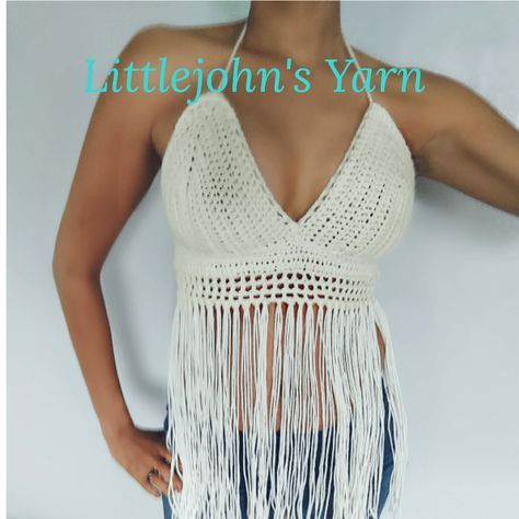Free pattern and Video Tutorial for crochet Halter / Festival top. I ...