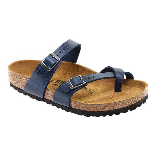 dcf0740d1b34a Women's Birkenstock Mayari Oiled Leather Strappy Sandal - Blue Oiled Leather  Sandals