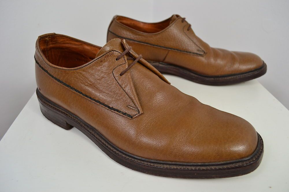 Vintage Trickers By Appointment To Hrh Brown Leather English Made