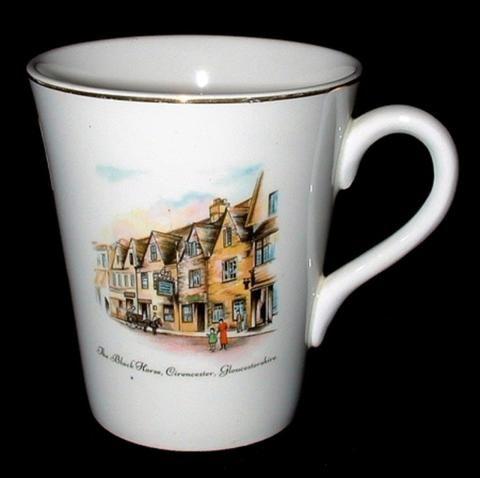 Mug Tea Coffee Wedgwood Black Horse Tavern England 1920-1930s - Antiques And Teacups - 1