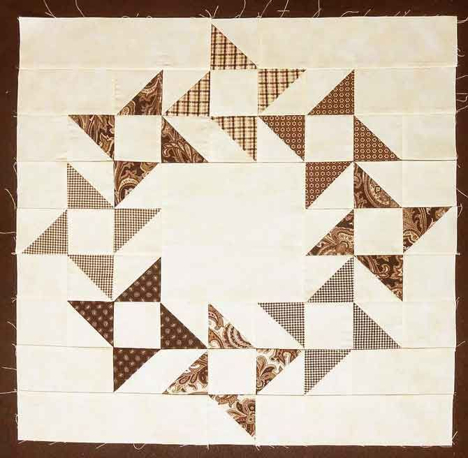 A Variation Of The Friendship Star Quilt Block Star