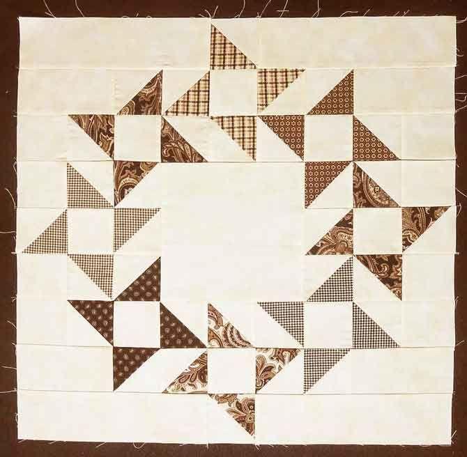 A variation of the Friendship Star quilt block | Tischdecken, Kleine ...