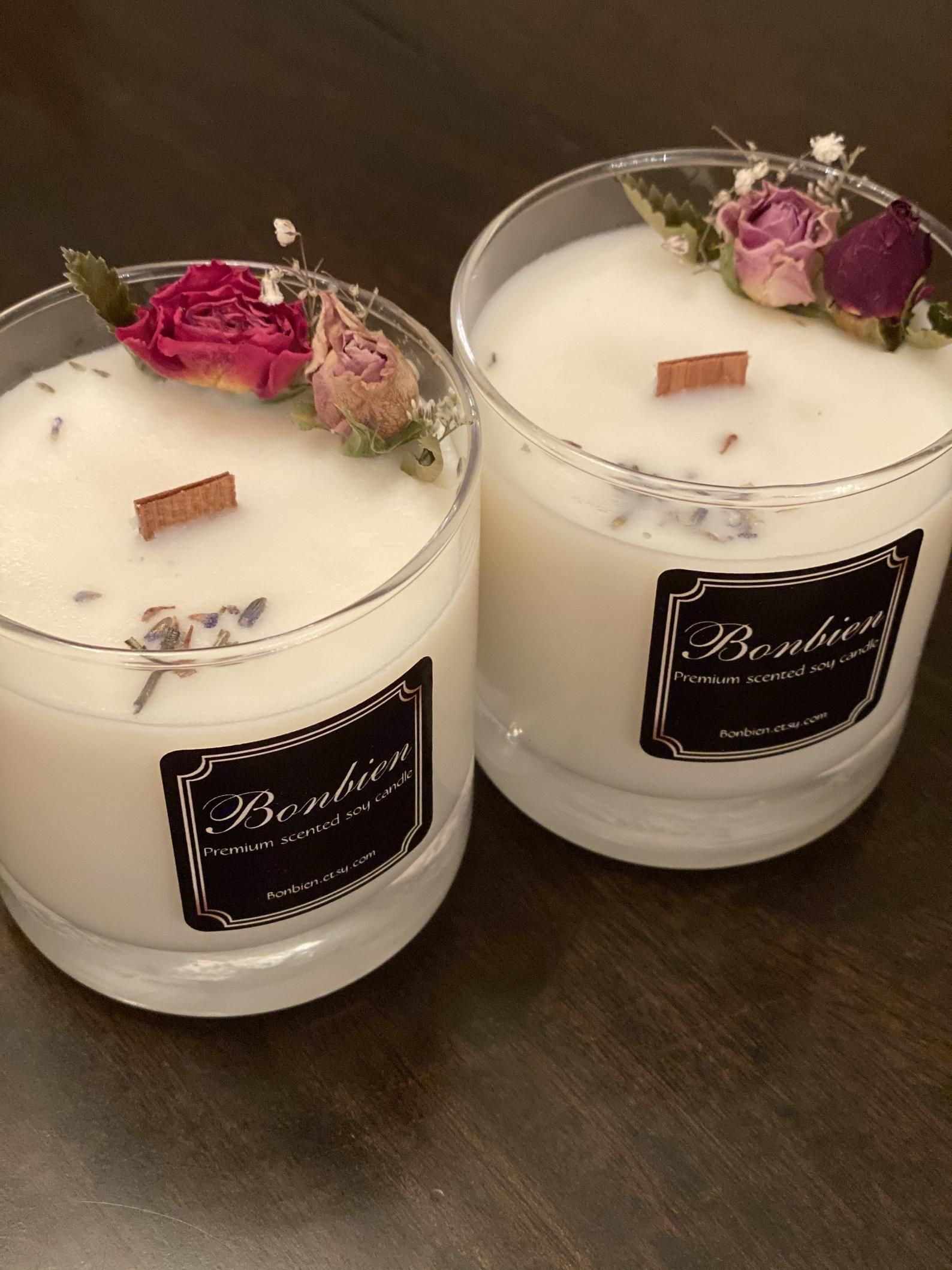Flower Candle Premium Gift Tulip Mothers Trend Best Home deco Soy Natural Vegan Candle