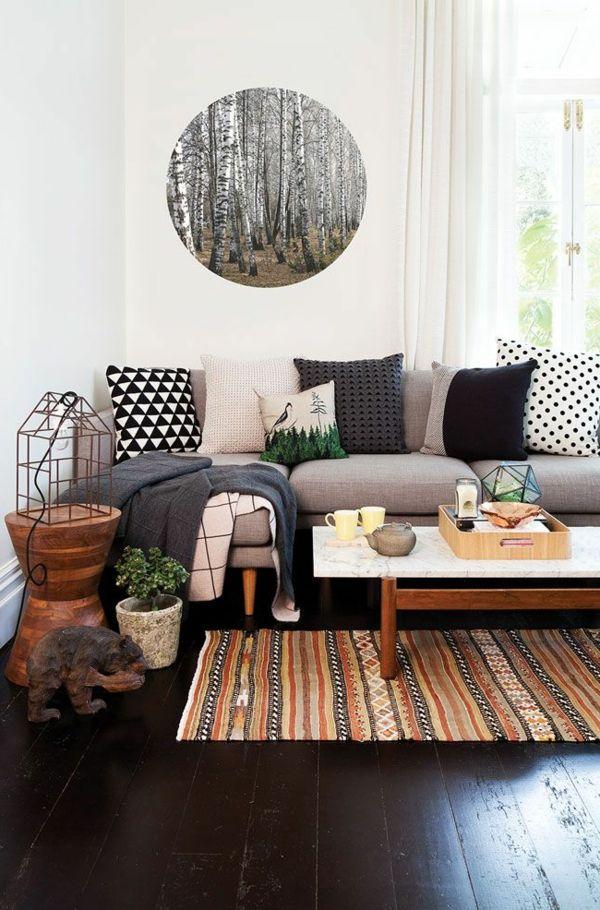Gestaltungsmöglichkeiten Für Wohnzimmer Rundes Bild  Sehr Interessant  Aussehen