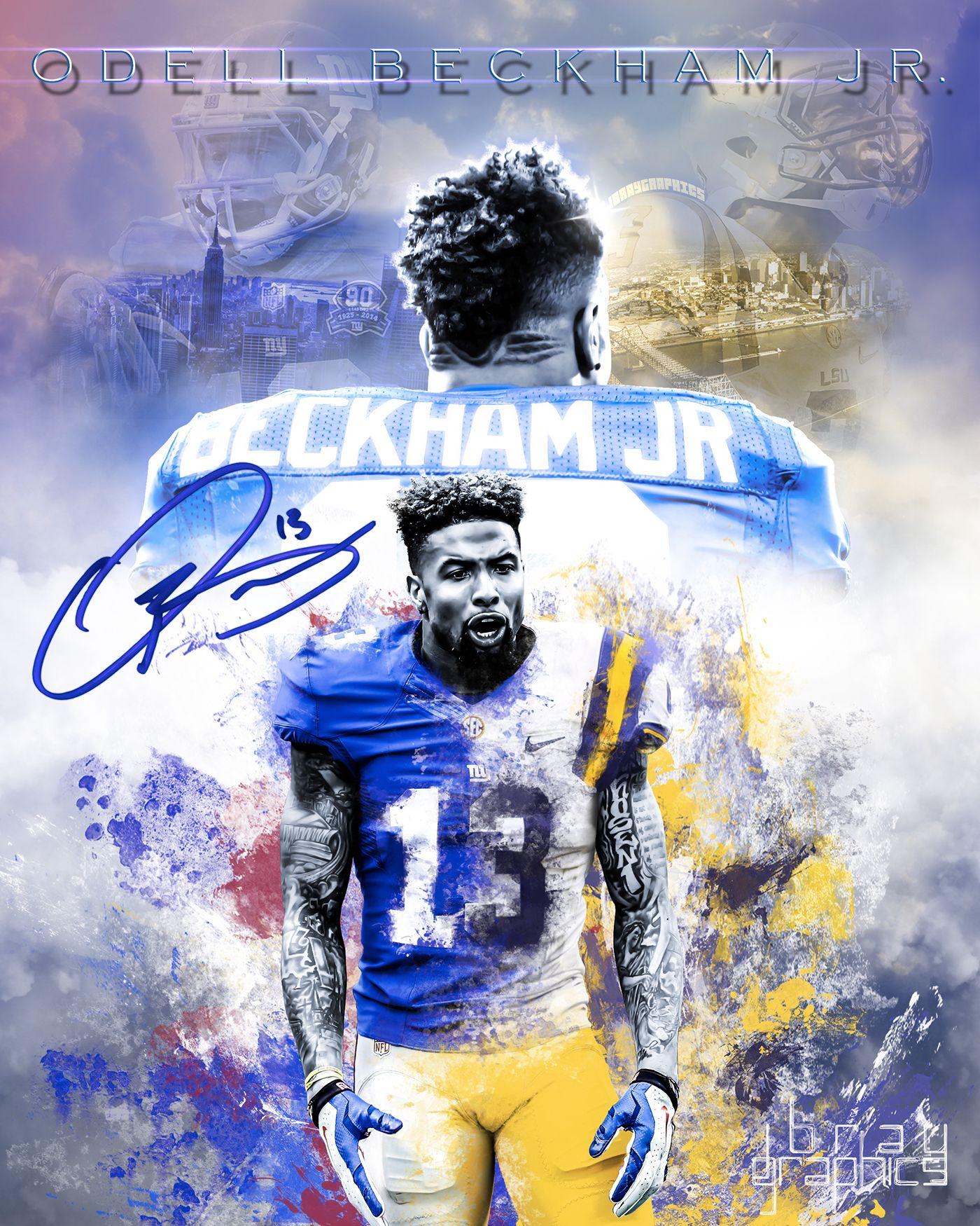 New York Giants 13 Odell Beckham Jr Go Big Blue