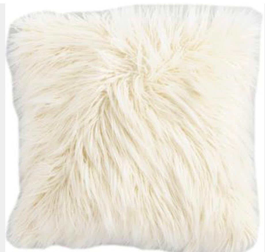 cream fluffy cushions online