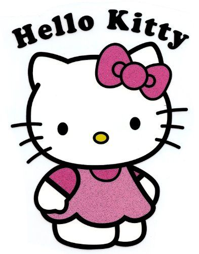 5 inch x 7 inch large hello kitty head w red bow name w flower rh pinterest com