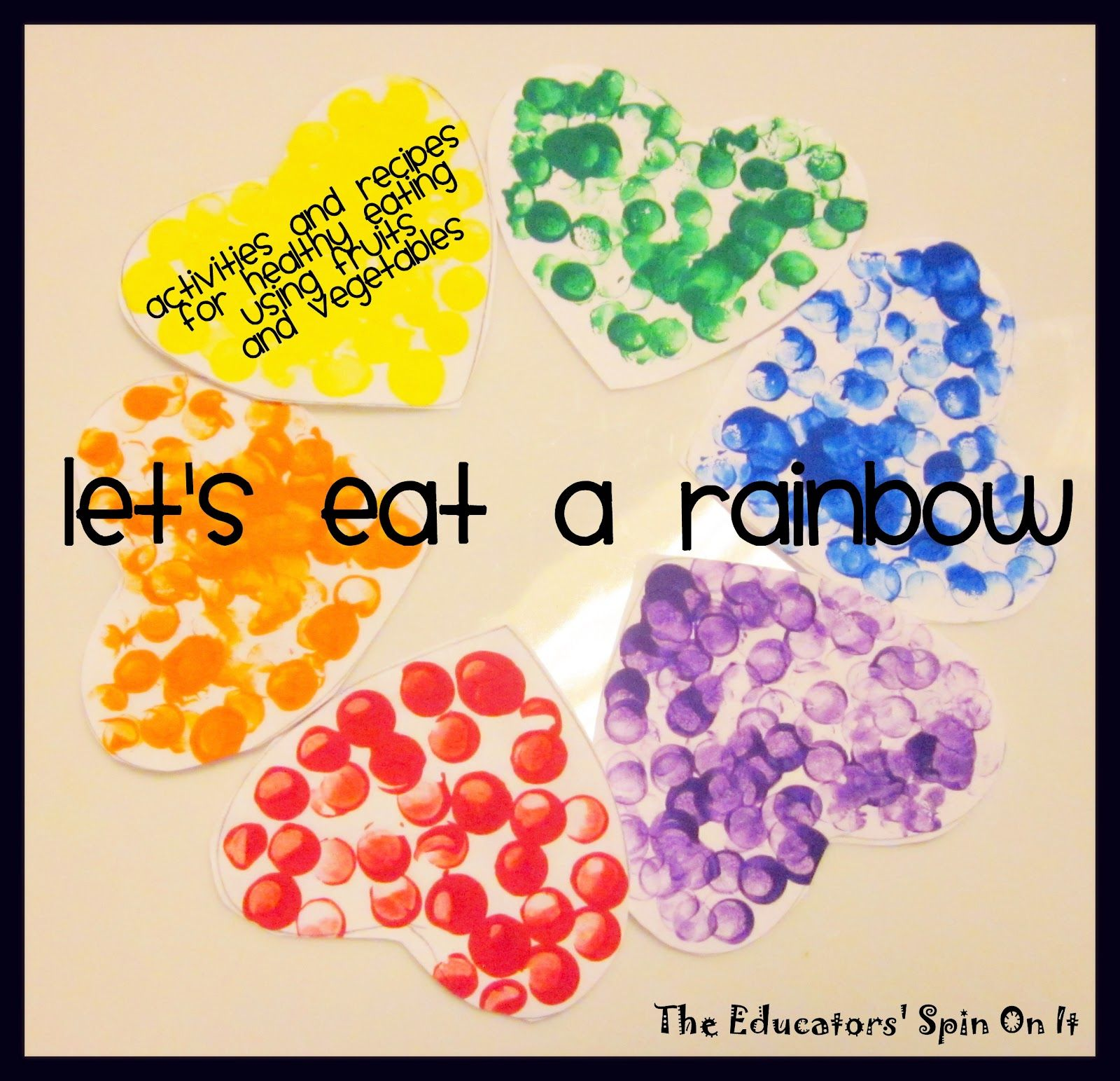Little Hands That Cook with Books Let's eat a RAINBOW