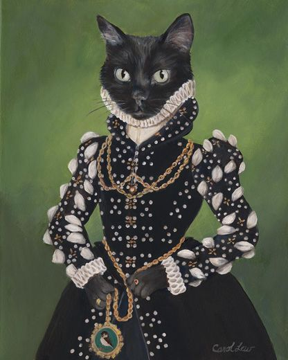 Carol Lew Isabel Anthropomorphic Cat Digital Art Order An Oil - Game of thrones pet paintings