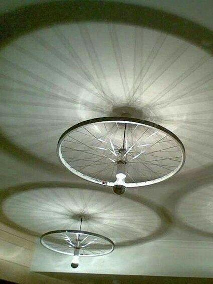 Roue De Velo Avec Images Deco Luminaire Recyclage Pneus Deco