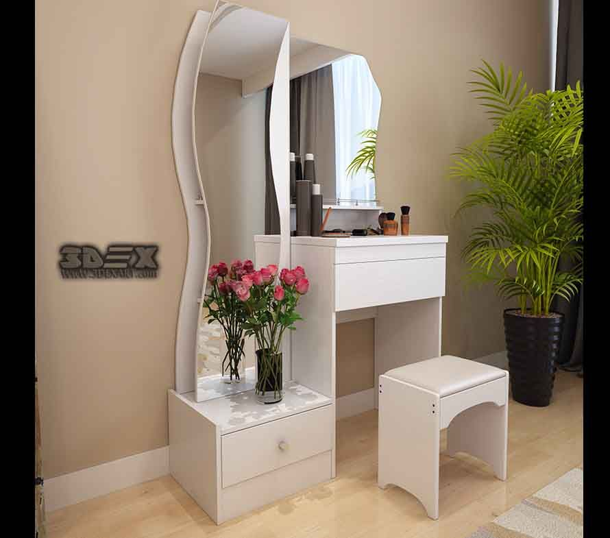 Best Latest Small Dressing Table Designs For Bedrooms 2018 400 x 300