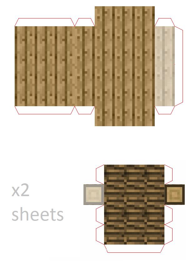 Papercraft Third Floor For Mini House Potion Room Armables De Minecraft Manualidades De Minecraft Casa De Minecraft