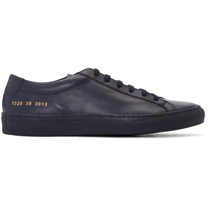 Navy and White Original Achilles Low Premium Sneakers Common Projects Marketable For Sale From China For Sale Cheap Fashionable wbvP0B6j