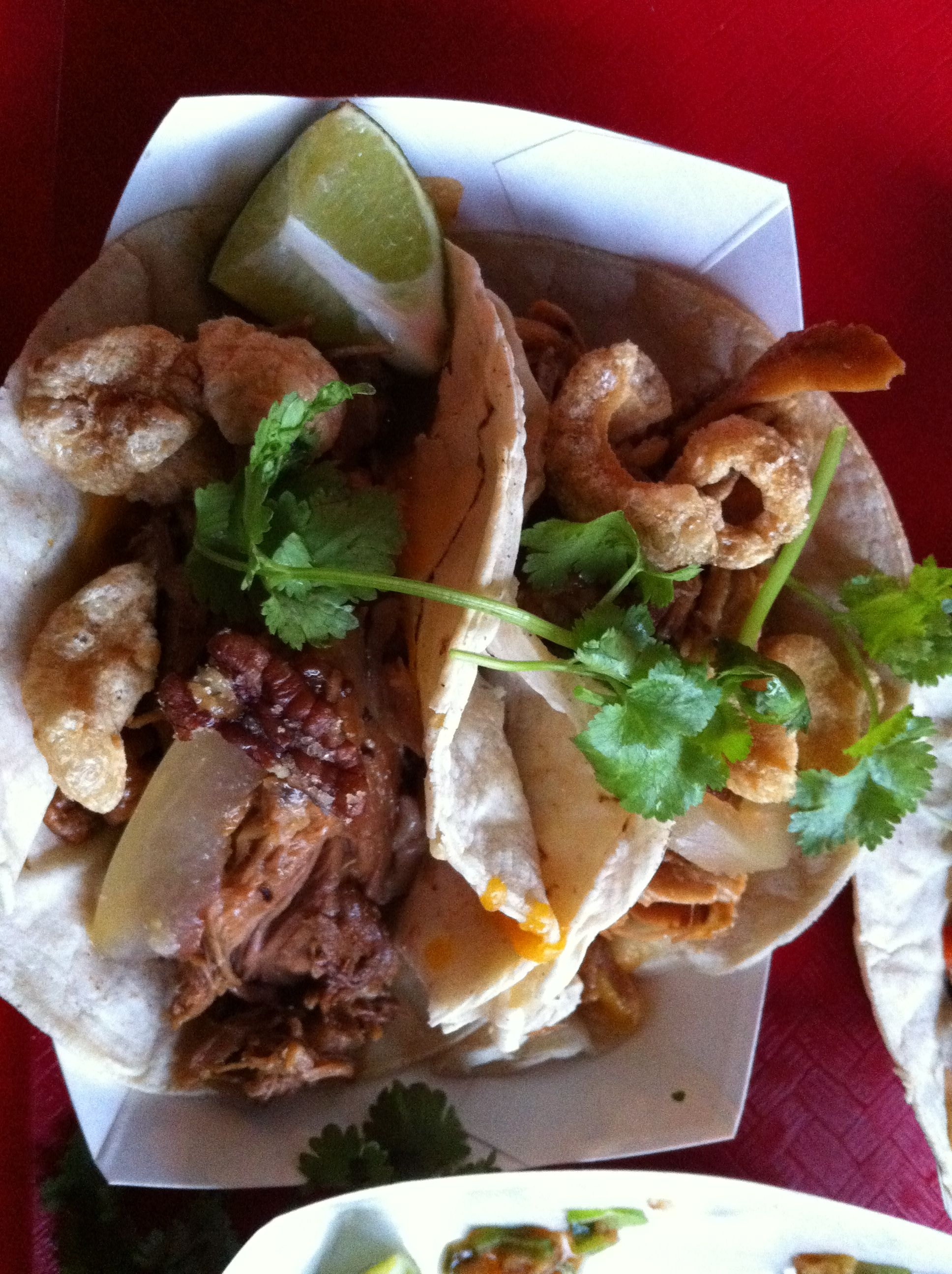 Pulled Pork Taco With---- Chicharones
