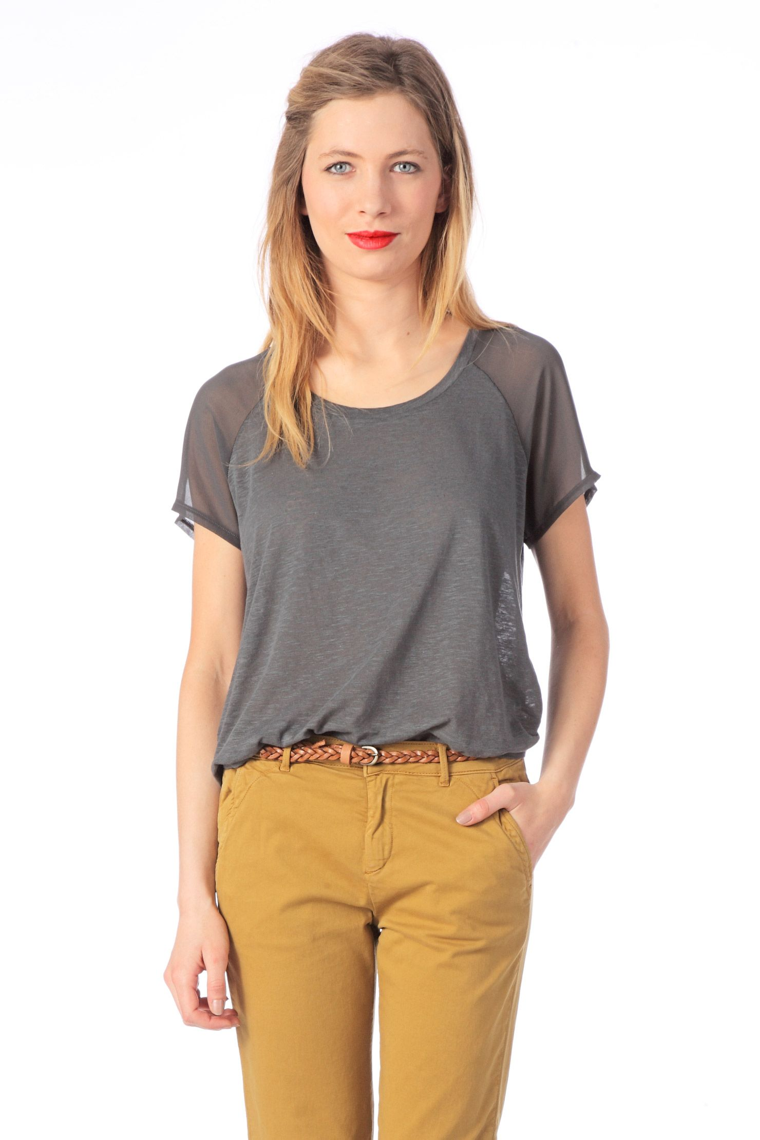 Short sleeve Top - cot81 - Grey American vintage on 50€