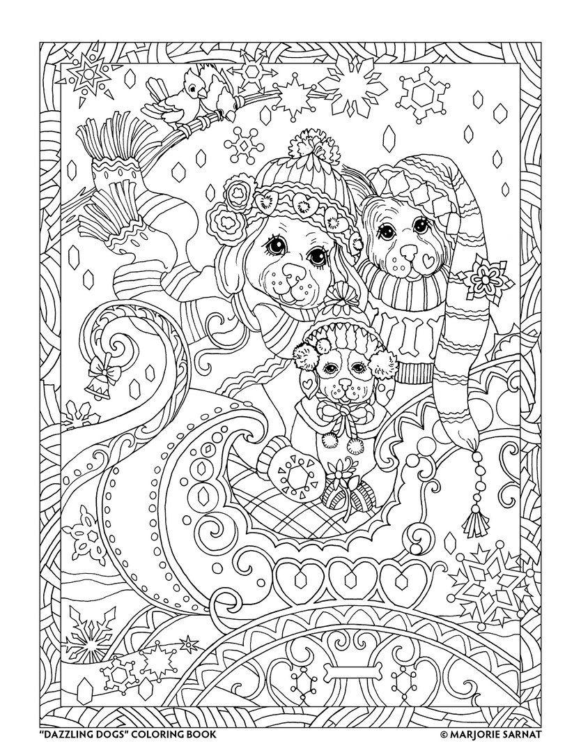 Antistress Raskraski Dlya Vzroslyh Art Terapiya Dog Coloring Book Animal Coloring Pages Mandala Coloring Pages