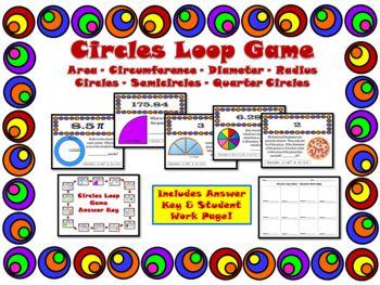 Circles Loop Game Area Circumference Radius Diameter