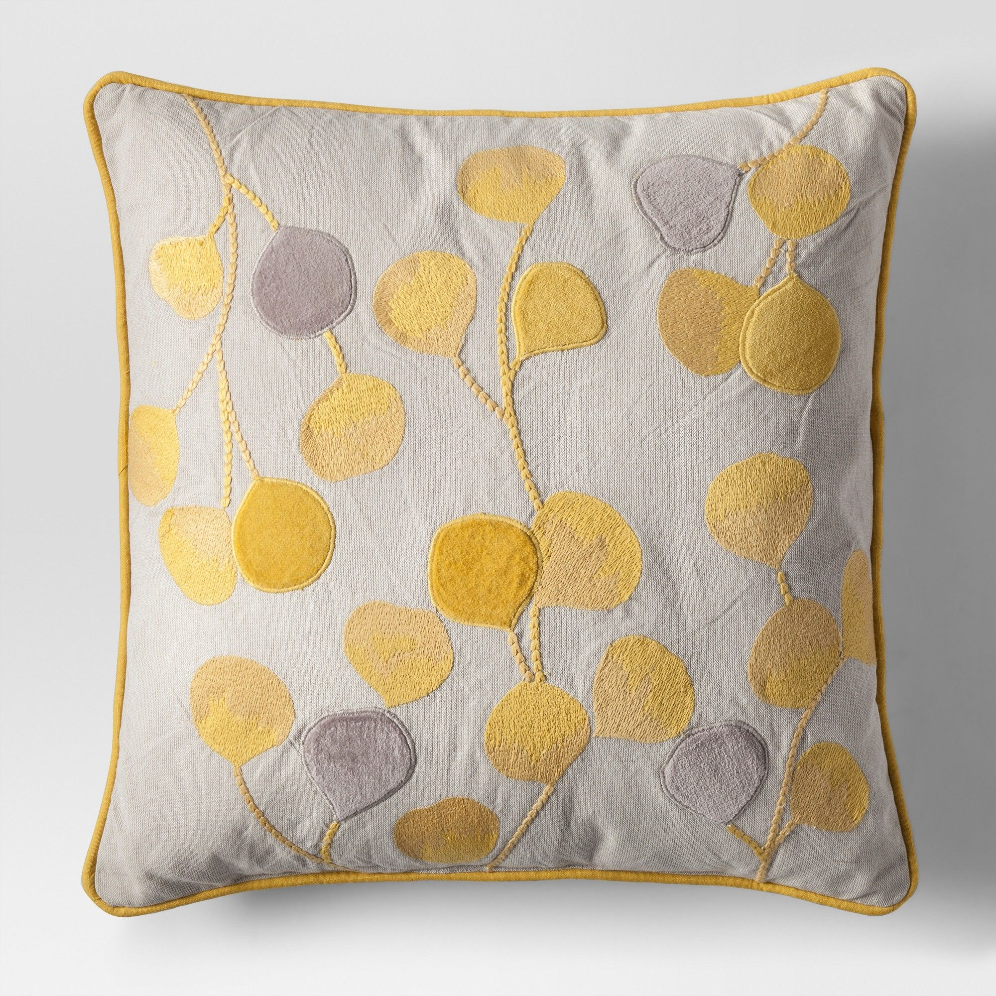 Yellow Botanical Throw Pillow Project 62 (With images