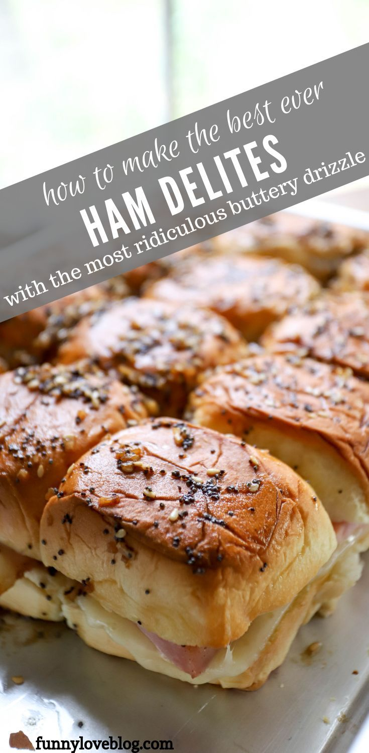 Buttery Ham + Swiss Sliders #footballfood