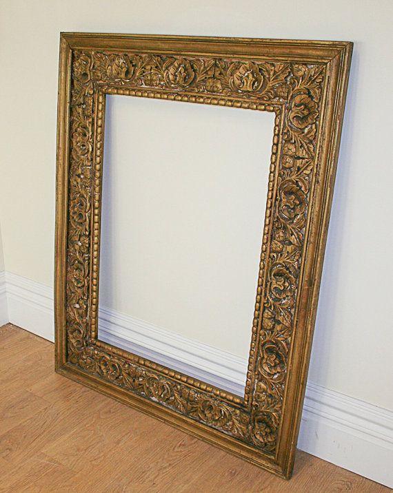 Wood Framed Mirror, Antique Wooden Frame Mirror