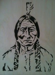 Native American Scroll Saw Fretwork Portrait This Is