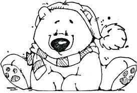Image Result For Christmas Polar Bear Coloring Page Polar Bear