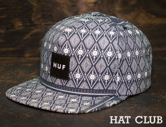 Exclusive HUF Bandana Snapback Cap   HAT CLUB  566073c57b9e
