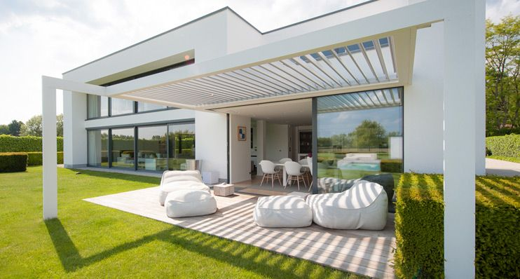 Louvre Window Blinds Window Shutters Opening Roof Louvretec Architecture House House Exterior Patio Design