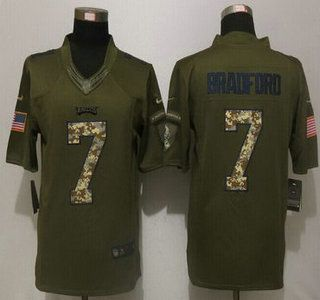 Men's San Francisco 49ers #16 Joe Montana Retired Player Green Salute to Service 2015 NFL Nike Limited Jersey