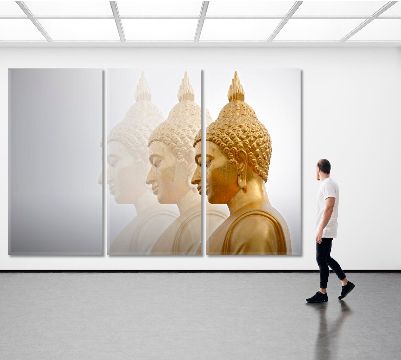 Big Buddha Statue Bangkok Buddha Wall Art Abstract Wall Art Buddha Canvas