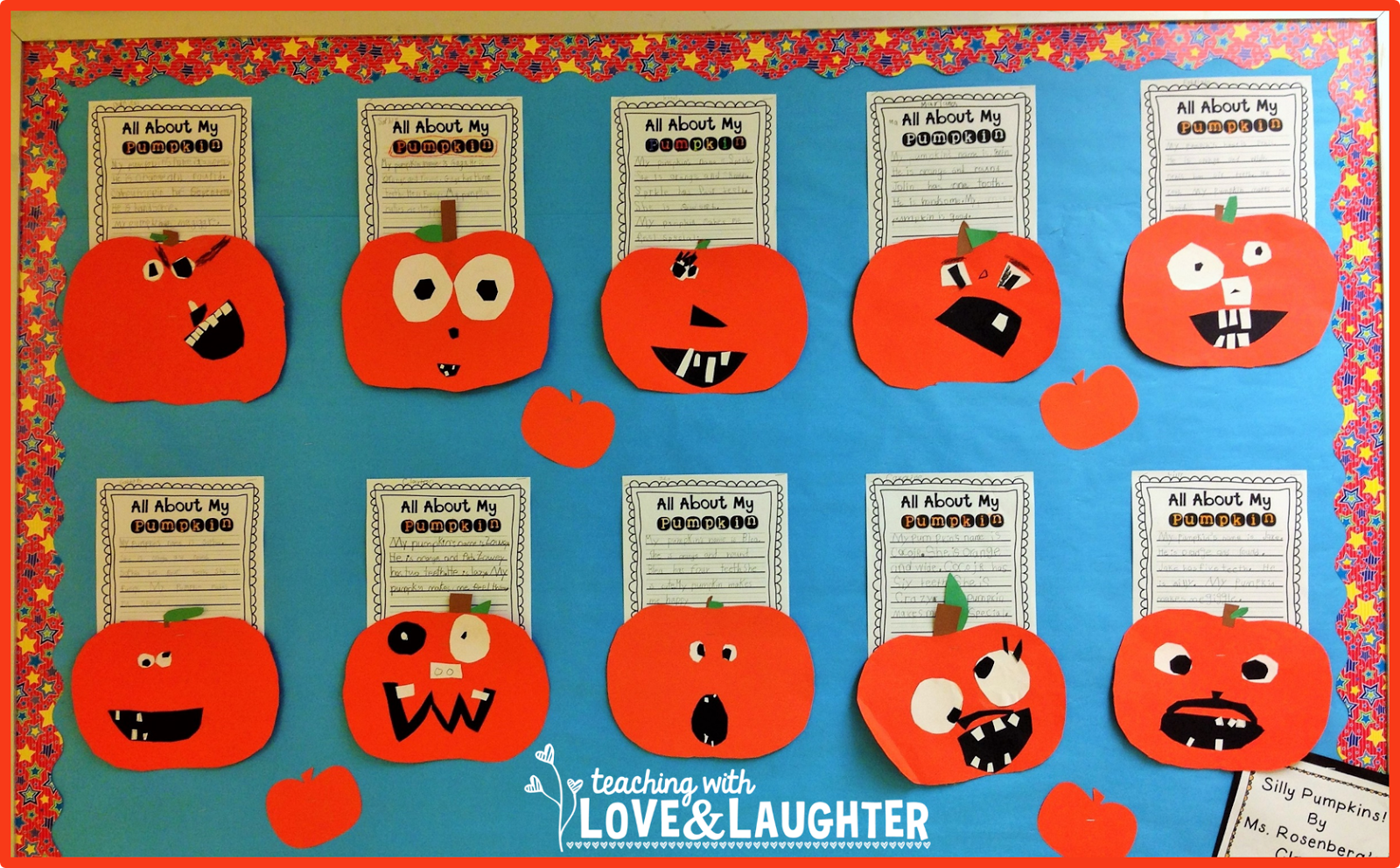 Pumpkin Writing Bulletin Board Teaching With Love And