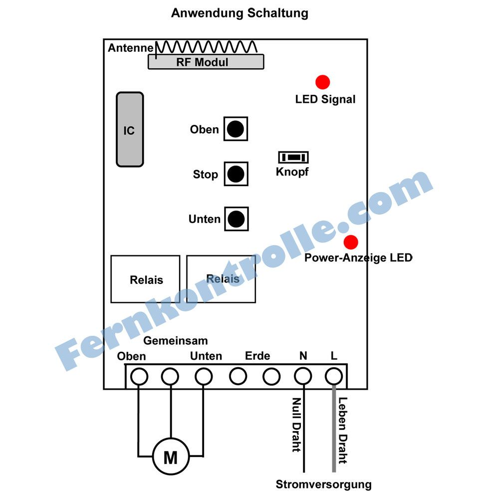 1 Kanal AC Motorsteuerung - Verdrahtungsschaltung | Motorsteuerung ...
