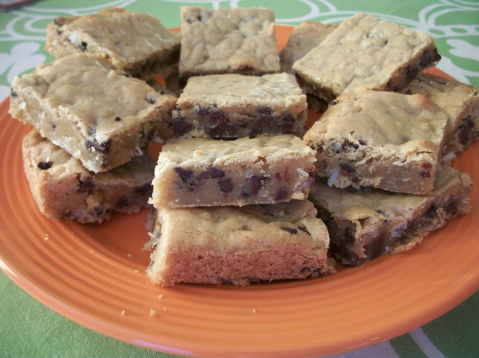 Cook with Sara: Chewy Coconut Chocolate Chip Bars