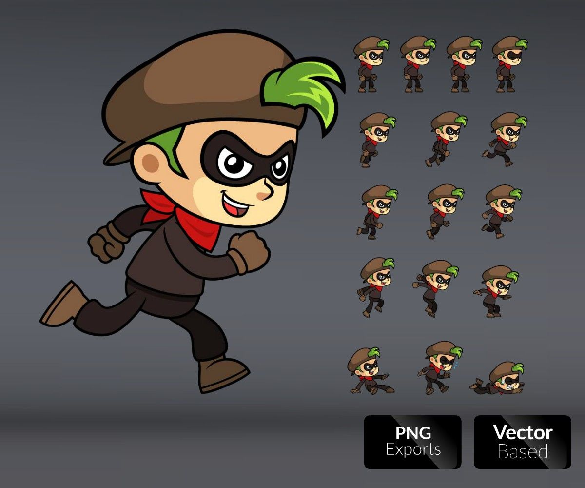 Action Girl Game Sprites | Game/Characters | Games, Game art