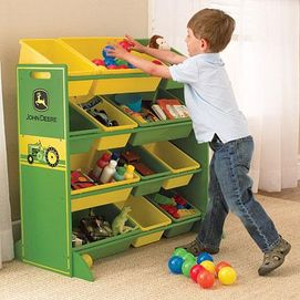 KidKraft John Deere Bin Storage Unit Oaks Bedroom - John deere idees de decoration de chambre