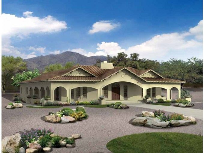 Mediterranean Style House Plan 4 Beds 3 5 Baths 3163 Sq Ft Plan 72 177